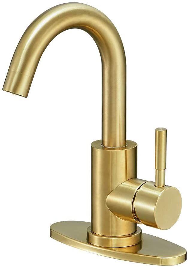 Hoimpro Modern Single Handle Wet Bar Sink Faucet Single Hole Bathroom Lavatory Faucet Rv Small Bathroom Sin Wet Bar Sink Small Bathroom Sinks Bar Sink Faucet