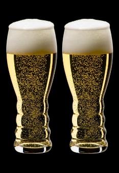 リーデル・オーシリーズ 香りを楽しむビアグラス。泡の上がり方がきれい。