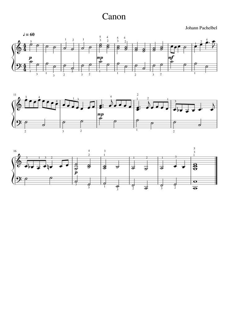 Canon_Johann Pachelbel_ made by Mia2401 for Piano