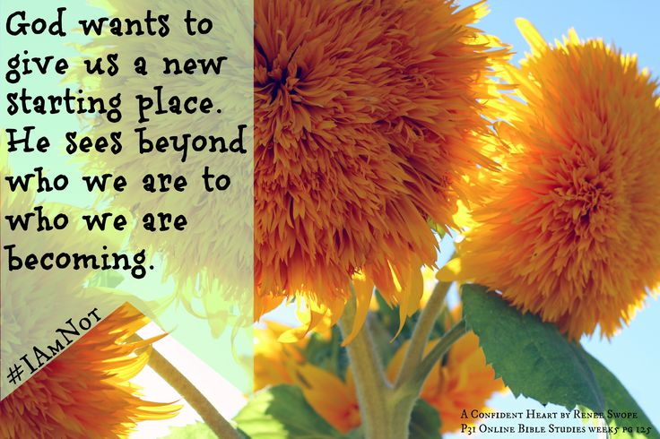God Wants To Give Us A New Starting Place. He Sees Beyond