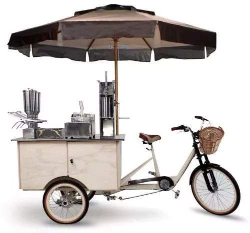 food trike triciclo truck bike para churros
