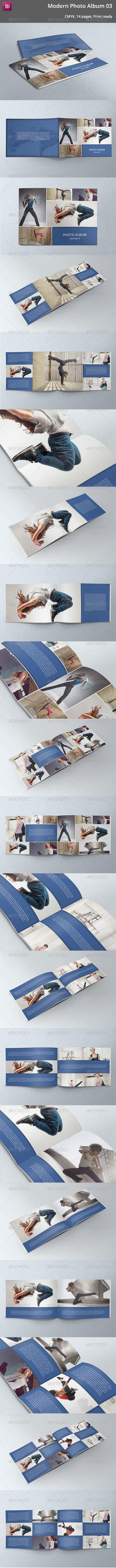 Modern Photo Album 03 - #Photo #Albums Print #Templates Download here: https://graphicriver.net/item/modern-photo-album-03/5355261?ref=alena994