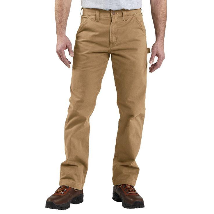 Carhartt Washed Twill Work Pants (For Men) in Dark Khaki