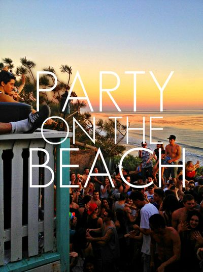 Party on the beach - July can't get here fast enough ☀