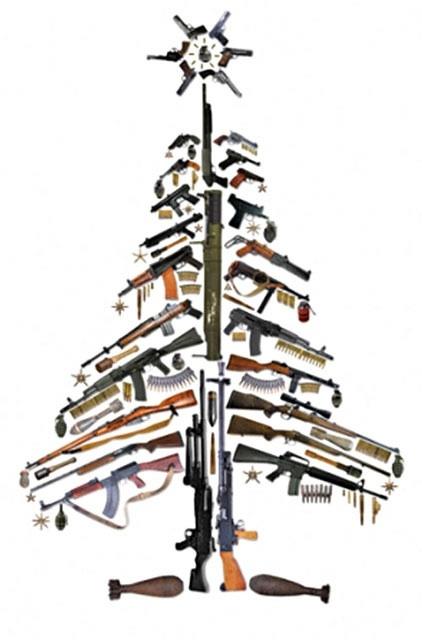 Gun Christmas tree @elwood Jackson