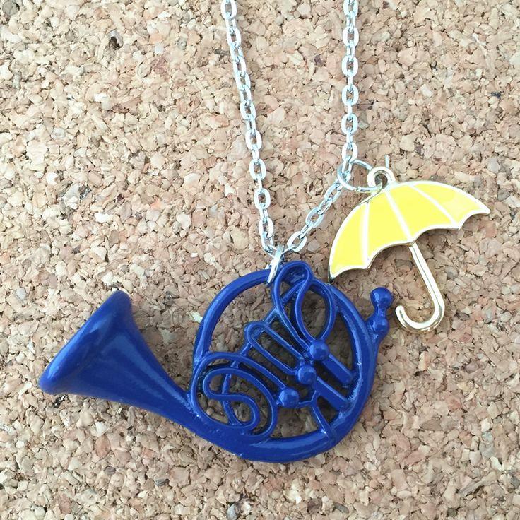 UNIVERSO de FANTASÍA Freeshipping 1 unid mucho madre HIMYM Cómo Conocí a Vuestra Madre Paraguas Amarillo Azul Collar de Cuerno Francés UNU02