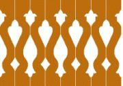 Sawn baluster porch railing pattern
