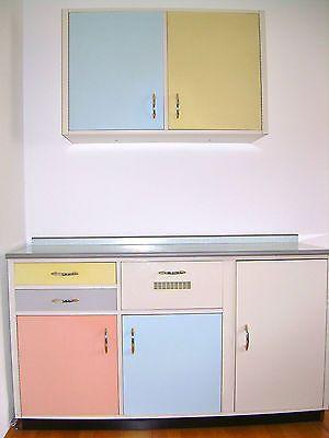 Tielsa Küche Schrank Resopal Pastell Farben 50er 60er