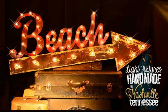 beach marquee sign lighted metal marquee sign marquee light fixture nautical marquee beach marquee marquee letter beach arrow marquee marquee sign - Lighted Marquee Letters