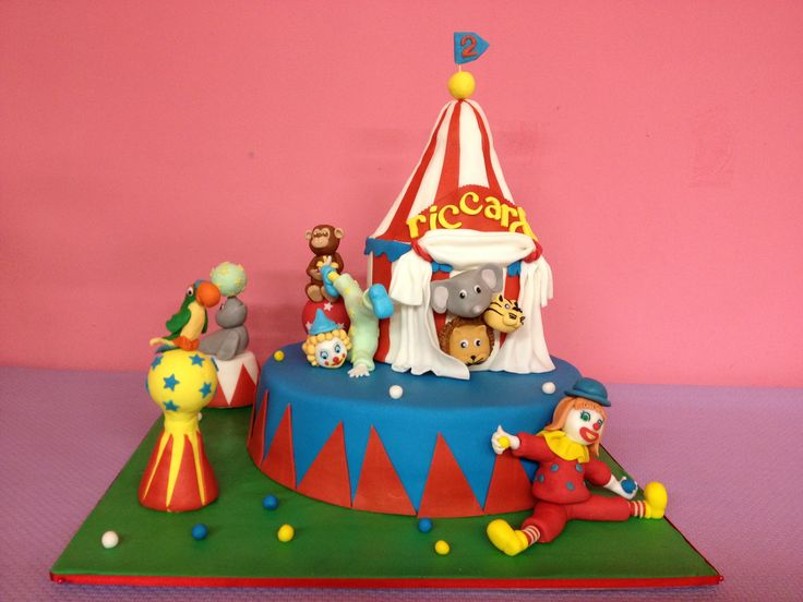 Circus torta compleanno