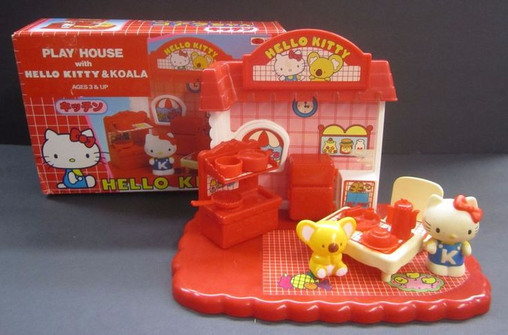 Vintage Sanrio Hello Kitty and Koala Play House Set Toho Japan