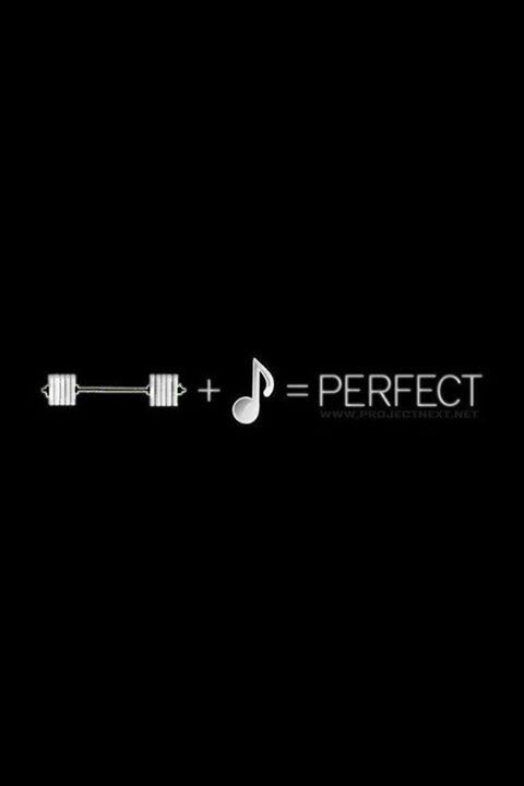 love lifting and my music. i could do it all day, every day!