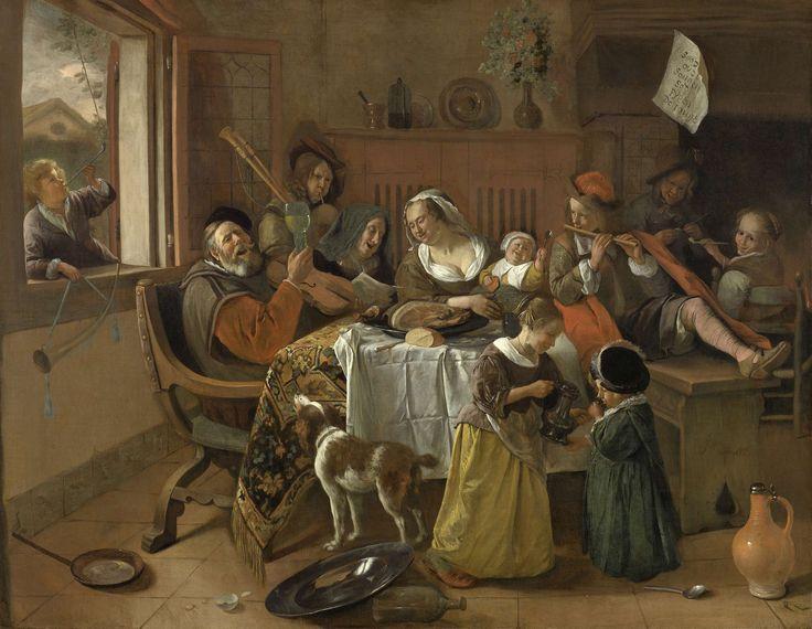 The Merry Family, Jan Havicksz. Steen, , 1668