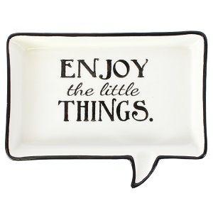 Enjoy The Little Things Speech Jewellery Dish