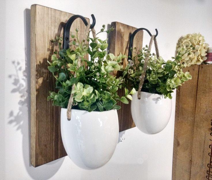 Ceramic planter, Hanging ceramic pots, Hanging greenery ...
