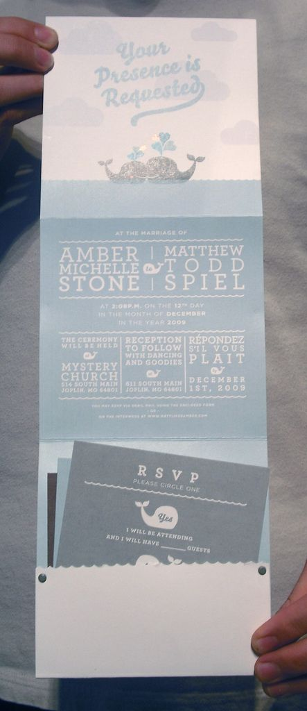 wedding invitation, via matthewtodd on flickr #stationary #print #design