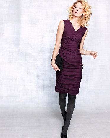 Color ciruela: con mucha fuerza para el próximo invierno.338 00 Eileen, Eileen Fisher, Clothing, Steel Shirring, Cotton Steel, Fisher Dresses, Fisher Cotton, Dresses Cotton, Shirring Dresses