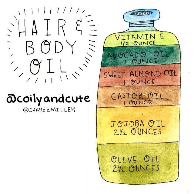 Naptural85 Hair & Body Oil recipe Instagram photo by @coilyandcute via ink361.com