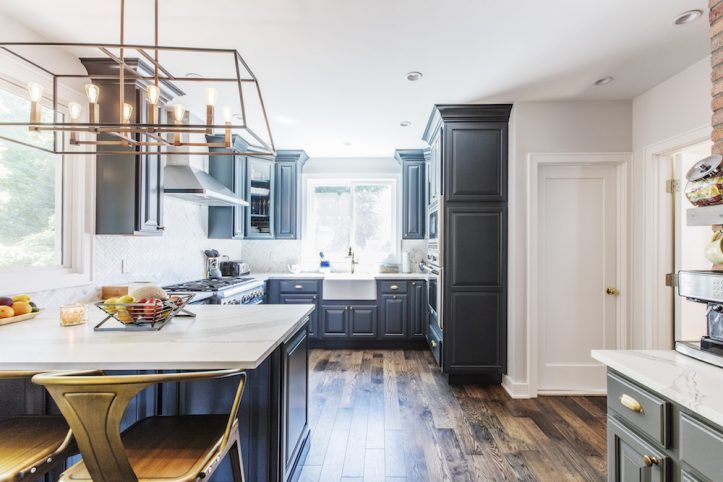 A Modern Colonial Kitchen Renovation In Brooklyn New York Modern Colonial Kitchen Colonial Kitchen Kitchen Renovation
