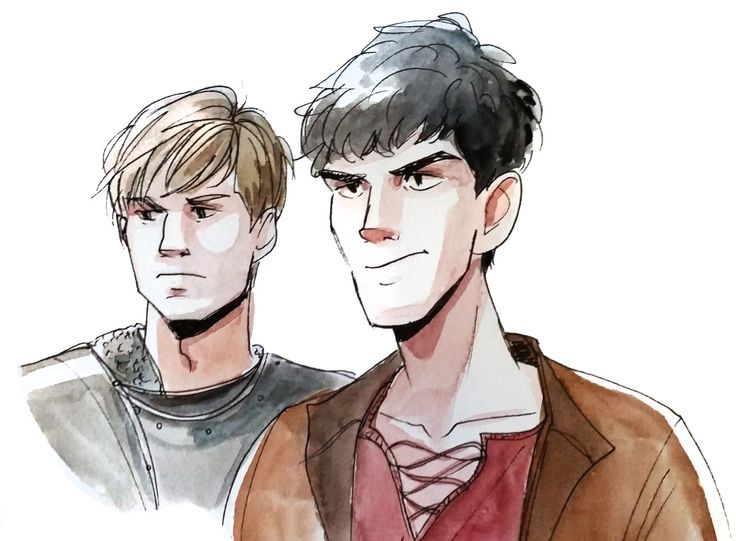 "incaseyouart: ""Merlin and Arthur more like Whiny King and Magical Bae amirite (i miss this shoooooow) Linked to this image editing tutorial~ ""twitter 