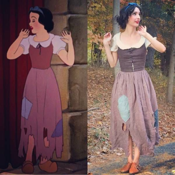 Snow White in rags costume. Disney.