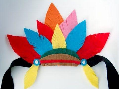 Cómo hacer un tocado de plumas de indio