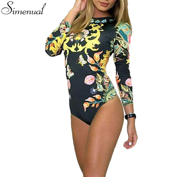 Harajuku fashion fitness bodysuit women clothes 2016 hot sale slim print bodycon jumpsuits overalls sexy hot ladies bodysuits