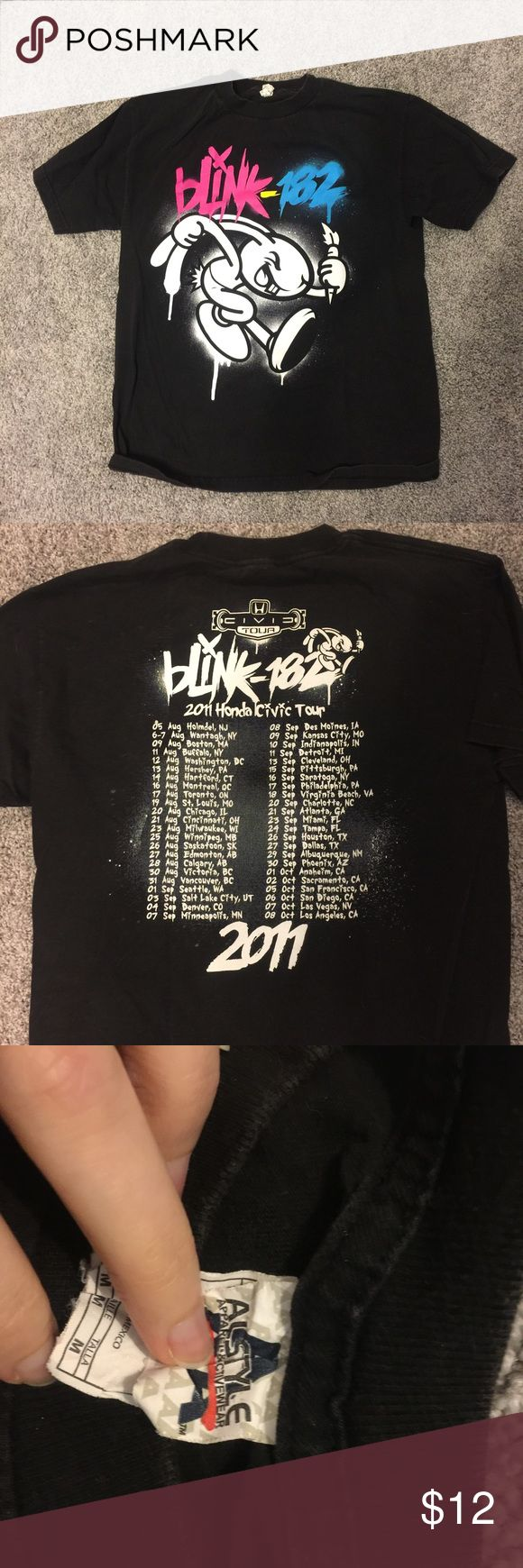 Blink 182 2009 Honda Civic Concert Tour t-shirt Purchased at concert in Houston, Texas. Still in great condition but somewhat faded. No other signs of wear. Unisex size medium.     Shipping in 1-2 business days  Smoke-free closet ⚡️Offers encouraged ✨Bundle & save! ❤️Leave questions in the comments ❌ trades Tops Tees - Short Sleeve