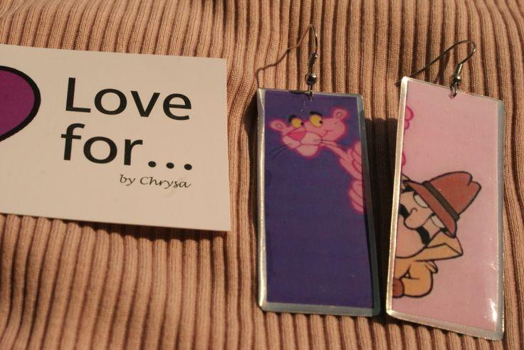 Earring by metal & glass 7,00  www.lovefor.gr