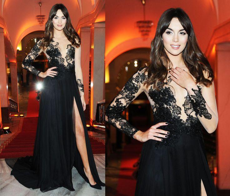 PAULINA KRUPIŃSKA #paprockibrzozowski #paulinakrupinska #star #dress #inspiration #fashion #blackdress #redcarpet #poland #warsaw #eveningdress #black #style