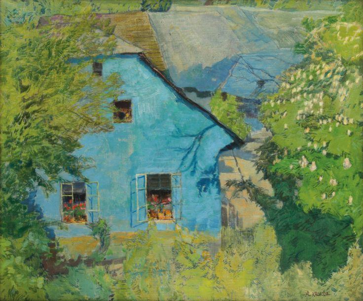 ALOIS KALVODA Blue house Modrý dům