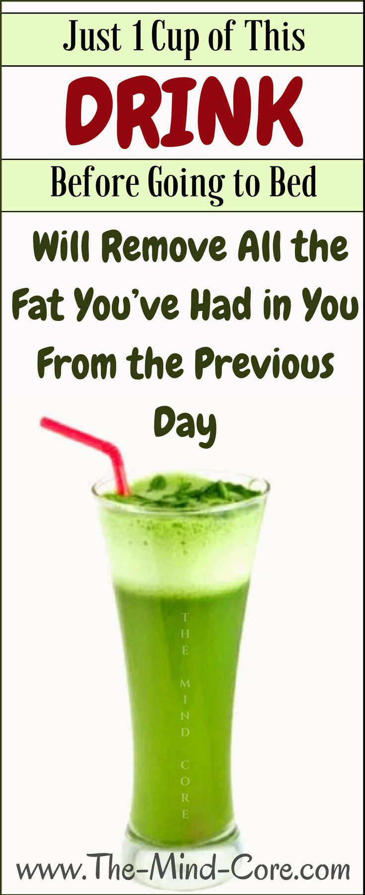 Just 1 Cup of This DRINK Before Going to Bed Will Remove All the Fat You've Had in You From the Previous Day!
