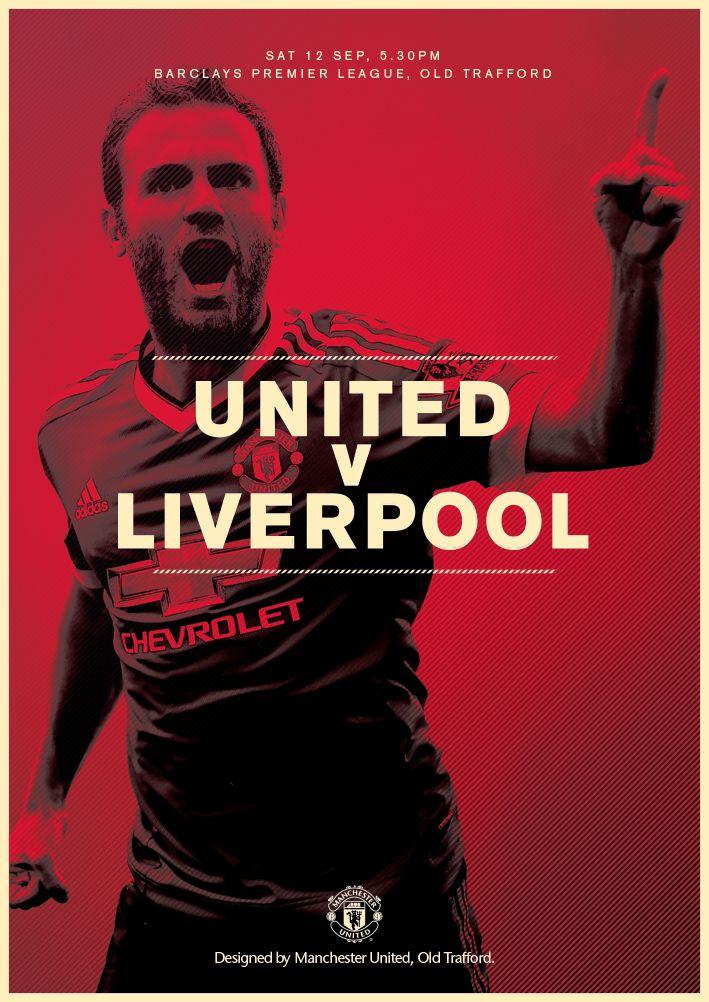 Match poster. United v Liverpool, 12 September 2015. Designed by @manutd
