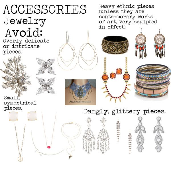 """""""Flamboyant Gamine (FG) Accessories - Jewelry to avoid"""" by lightspring on Polyvore"""