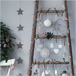 Glitter Heart Decoration | The White Company