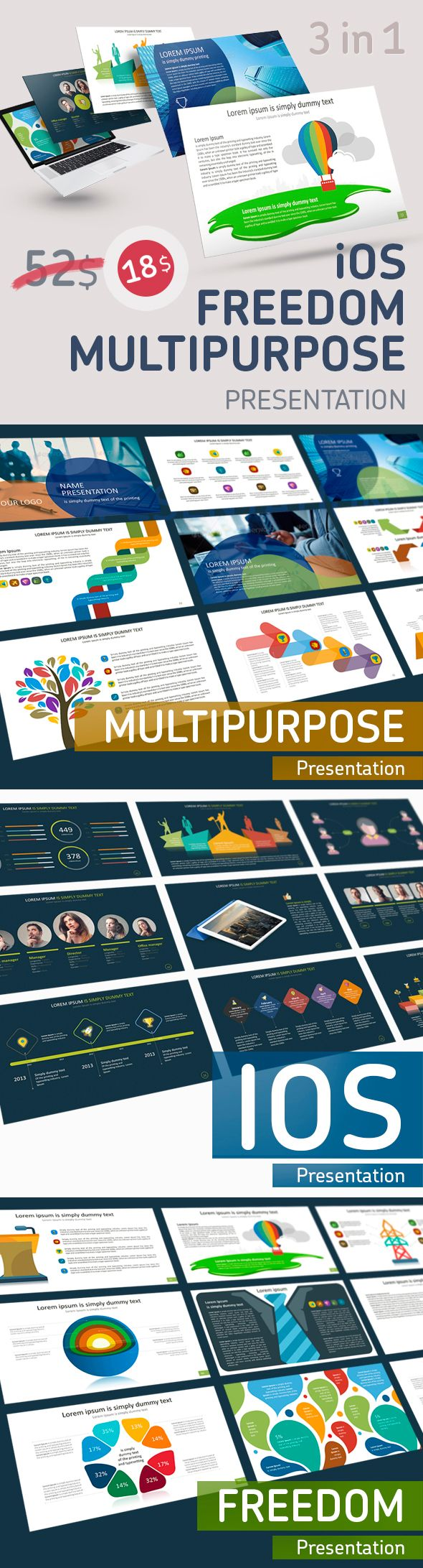 3 in 1 Pack Presentation PowerPoint Templates #design #slides Download: http://graphicriver.net/item/3-in-1-pack-presentation-powerpoint/13382457?ref=ksioks