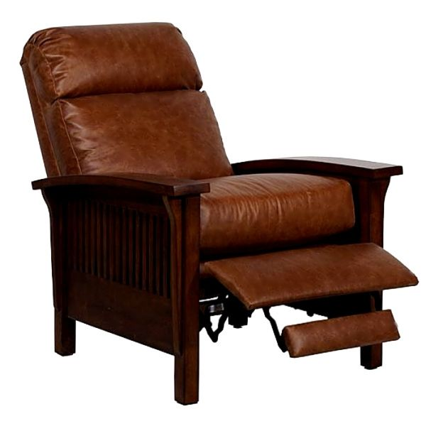 Mission Craftsman Leather Morris Style Recliner. BarcaloungerCalifornia  BungalowMission FurnitureLeather ...