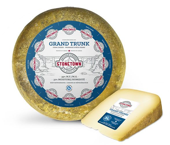 The old railway bridge of the former Grand Trunk Railway in St. Marys is a historic landmark. Our Grand Trunk cheese has the longest ripening time and an almost historic look. Therefore, the name Grand Trunk seemed to work perfectly.The age of consumption various from a more mild cheese with a 3-month ripening process, compared to a stronger cheese with tons of flavour, which typically takes up to 6-9 months. Grand Trunk tastes great on a slice of rustic bread, on a cheese platter with...
