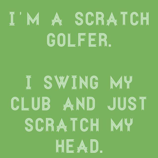 Are you a scratch golfer? Haha! #golf #lorisgolfshoppe