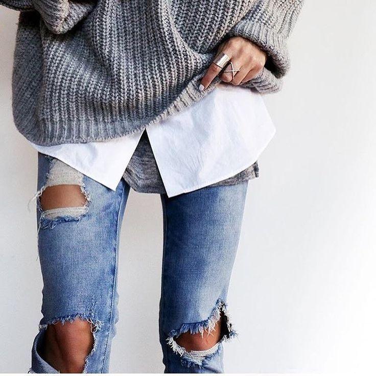 layering dress shirt & sweater