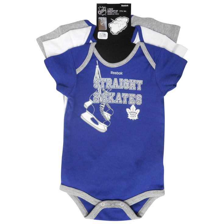 Toronto Maple Leafs Reebok Infant 'Hat Trick' 3Piece Body Suit Set - shop.realsports - 1