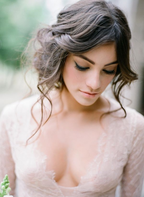 Stunning wedding hairstyle idea; photo: Jose Villa
