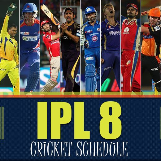 One of the most awaited cricket tournaments, #IPL 'India Ka Tyohar' is back! Here's your entire match schedule & fixtures for #IPL8