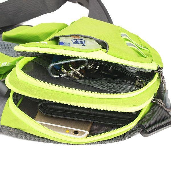 TANLUHU Outdoor Men Women Nylon Hiking Water Kettle Bag Sport Portable Waist Bag