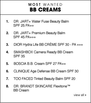 Most Wanted BB Creams  #sephora