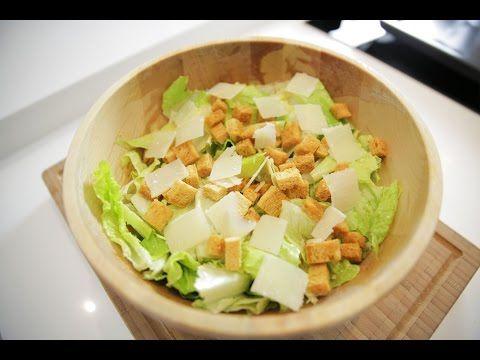 Sezar Salatası Tarifi - İdil Tatari - Yemek Tarifleri - YouTube