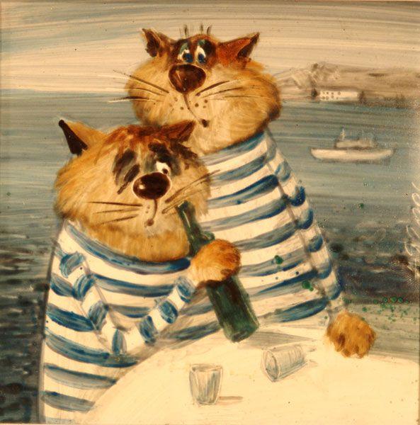 Маленькие картинки, прикольные картинки котов в тельняшке