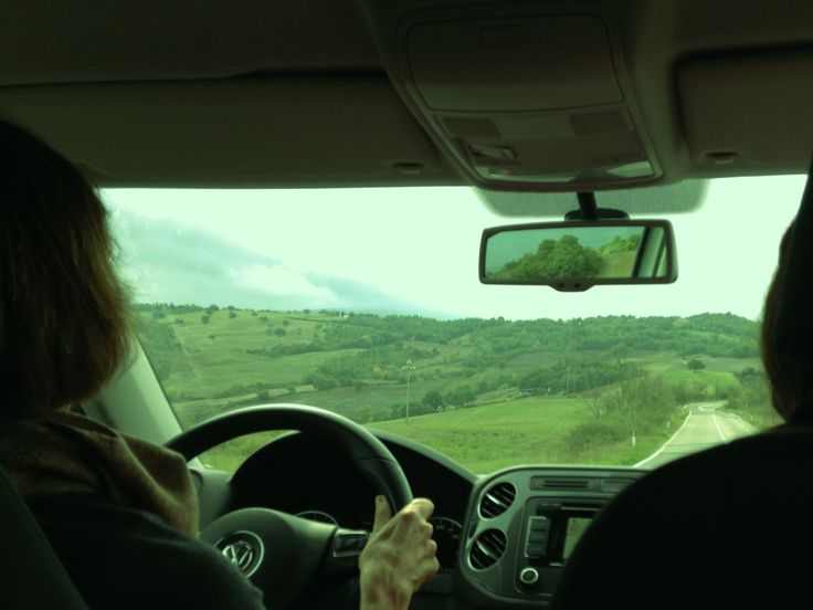 Driving in Val d'Orcia via Auto Europe