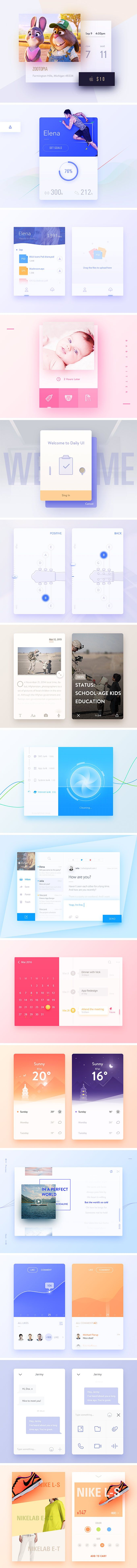 Inspirational UI Elements - download freebie by PixelBuddha