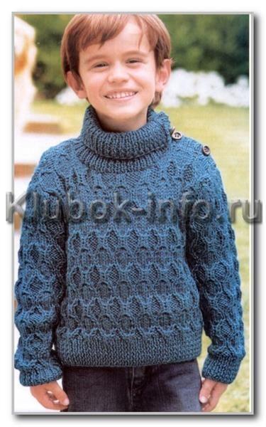 Описание модели детского свитера для вязания на спицах
